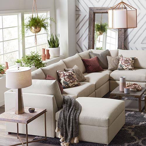 right rug size sofa vs sectional