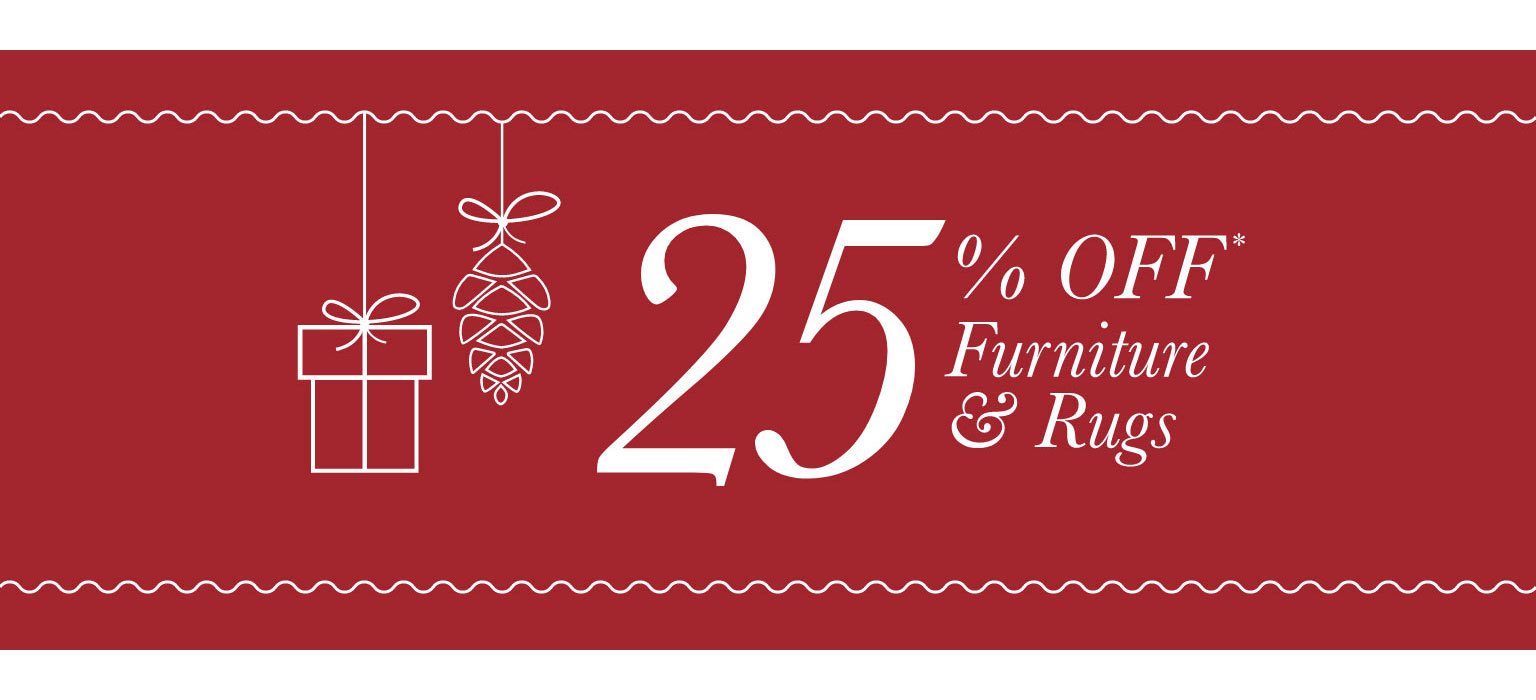Take 25% Off Furniture & Rugs - Tablet