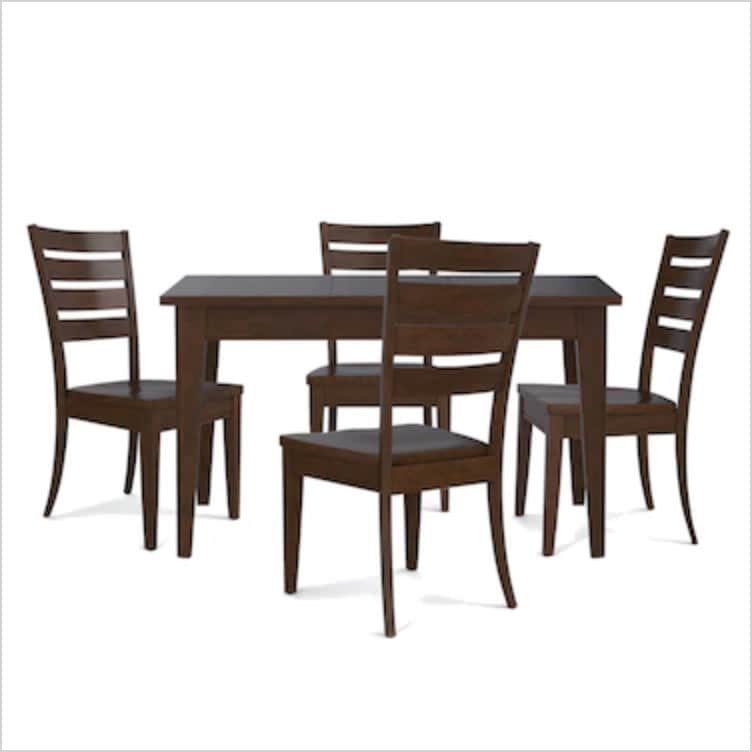 Custom Dining Dining Table and 4 Chairs