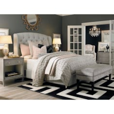 Custom Uph Beds ParisArched Winged Bed