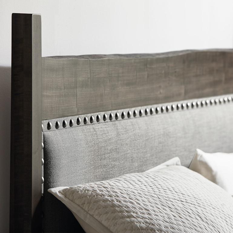 Maple Live Edge Panel Bed