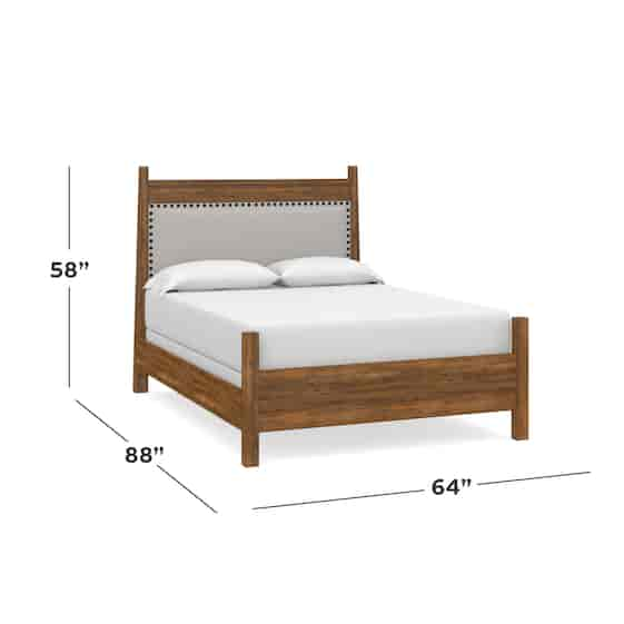Maple Queen Upholstered Panel Bed