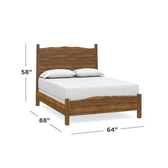 Maple Queen Live Edge Panel Bed