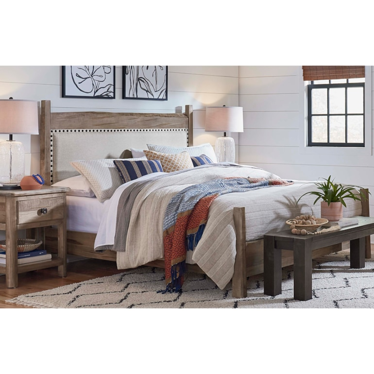 Live Edge Uph Panel Bed