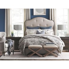 Provence Queen Upholstered Bed