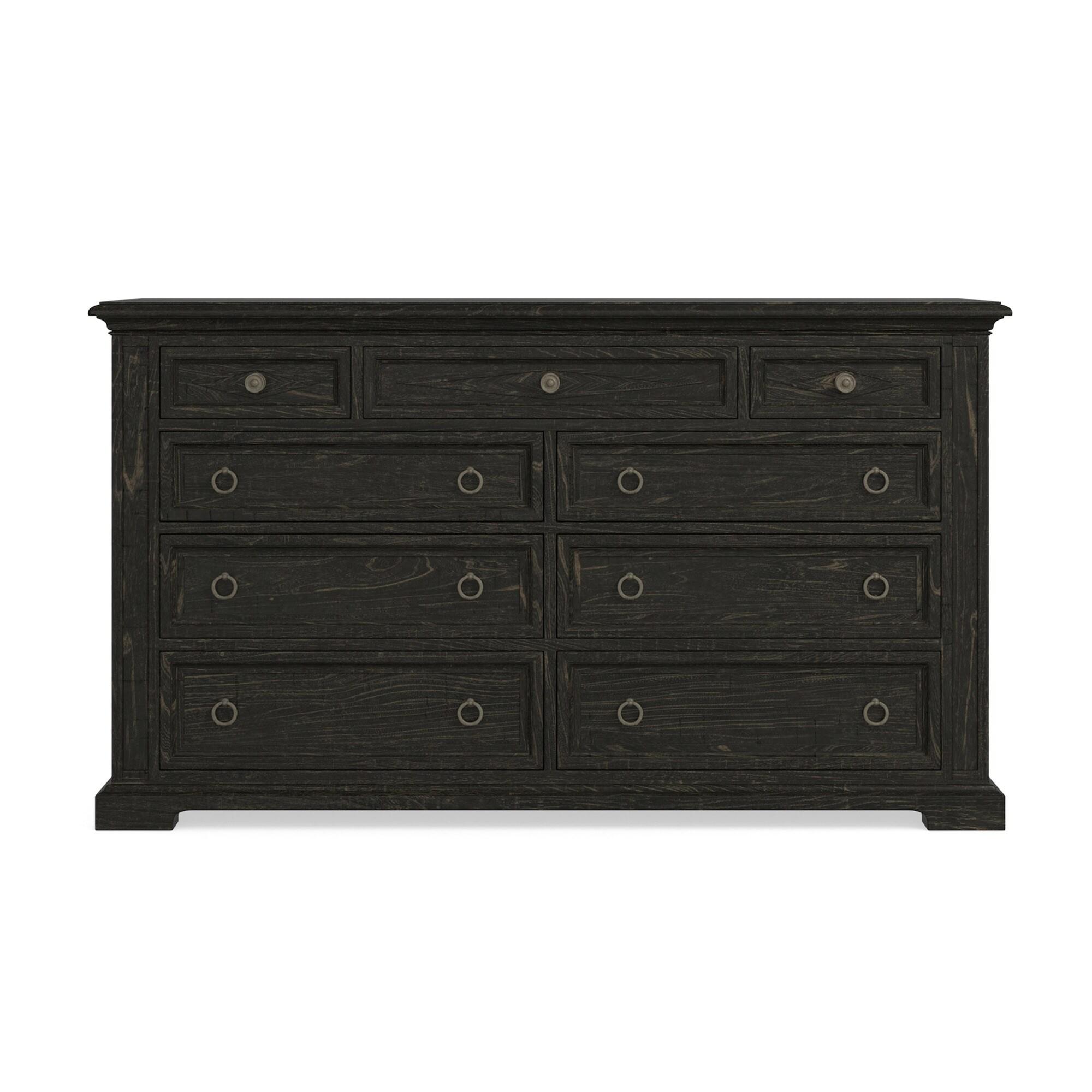 Woodridge 9 Drawer Dresser Black Bassett Furniture