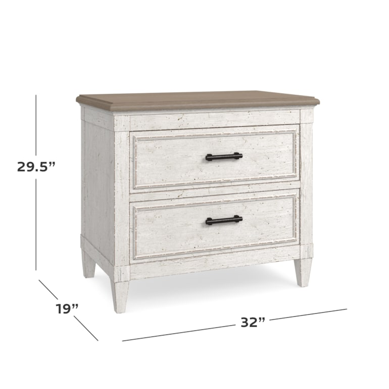 Wood Top Nightstand