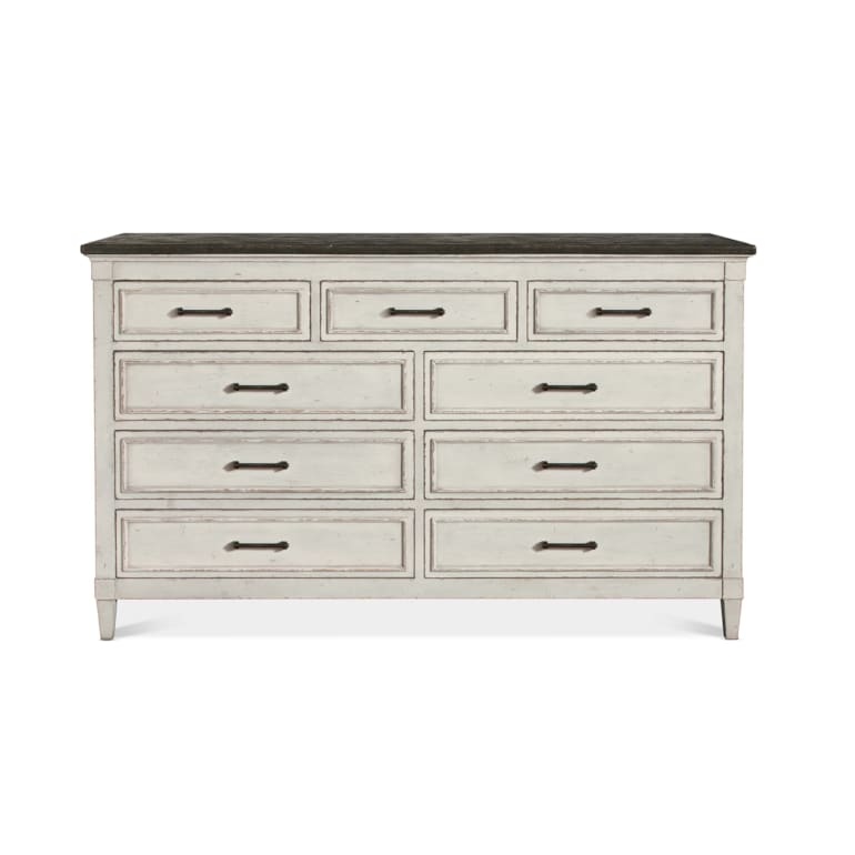 9 Drawer Stone Top Dresser