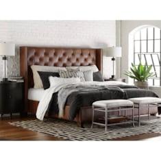 HGTV<sub>®</sub> HOME Custom Uph Beds DublinWinged Bed