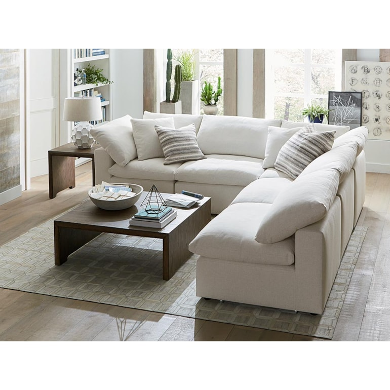 Armless L-Shaped Sectional