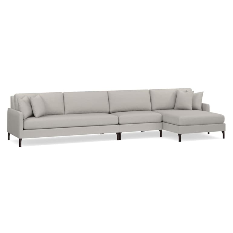 3 Piece Right Chaise Sectional