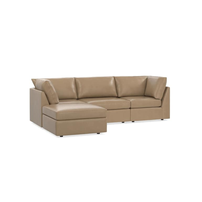 Leather Small Chaise Sectional