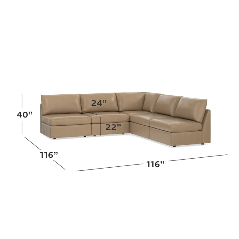 Leather L-Shaped Sectional