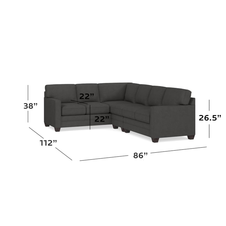 Track Arm Large L Sectional