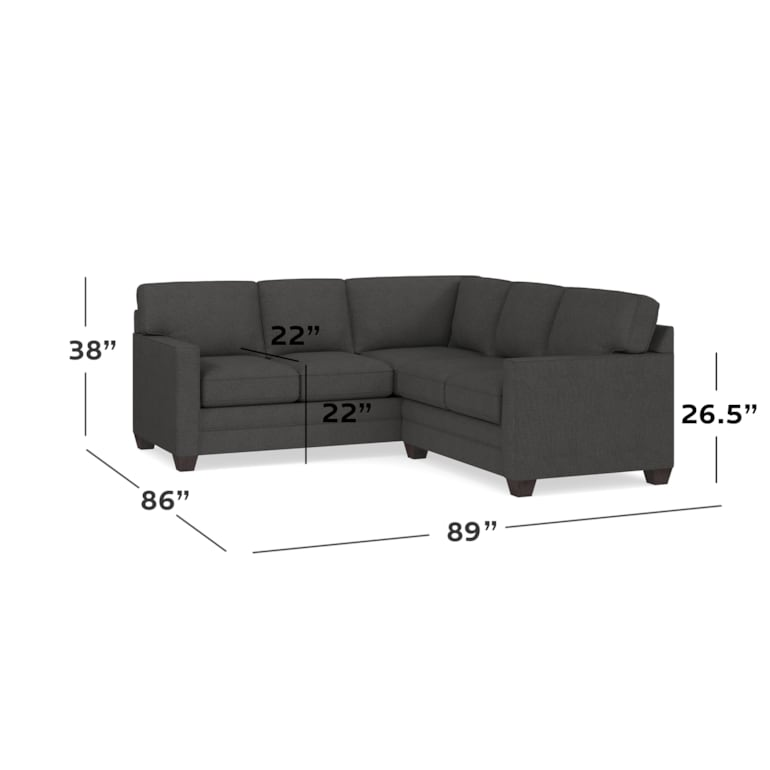 Track Arm Small L Sectional