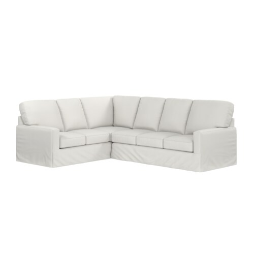 L-Shaped Slipcover Sectional