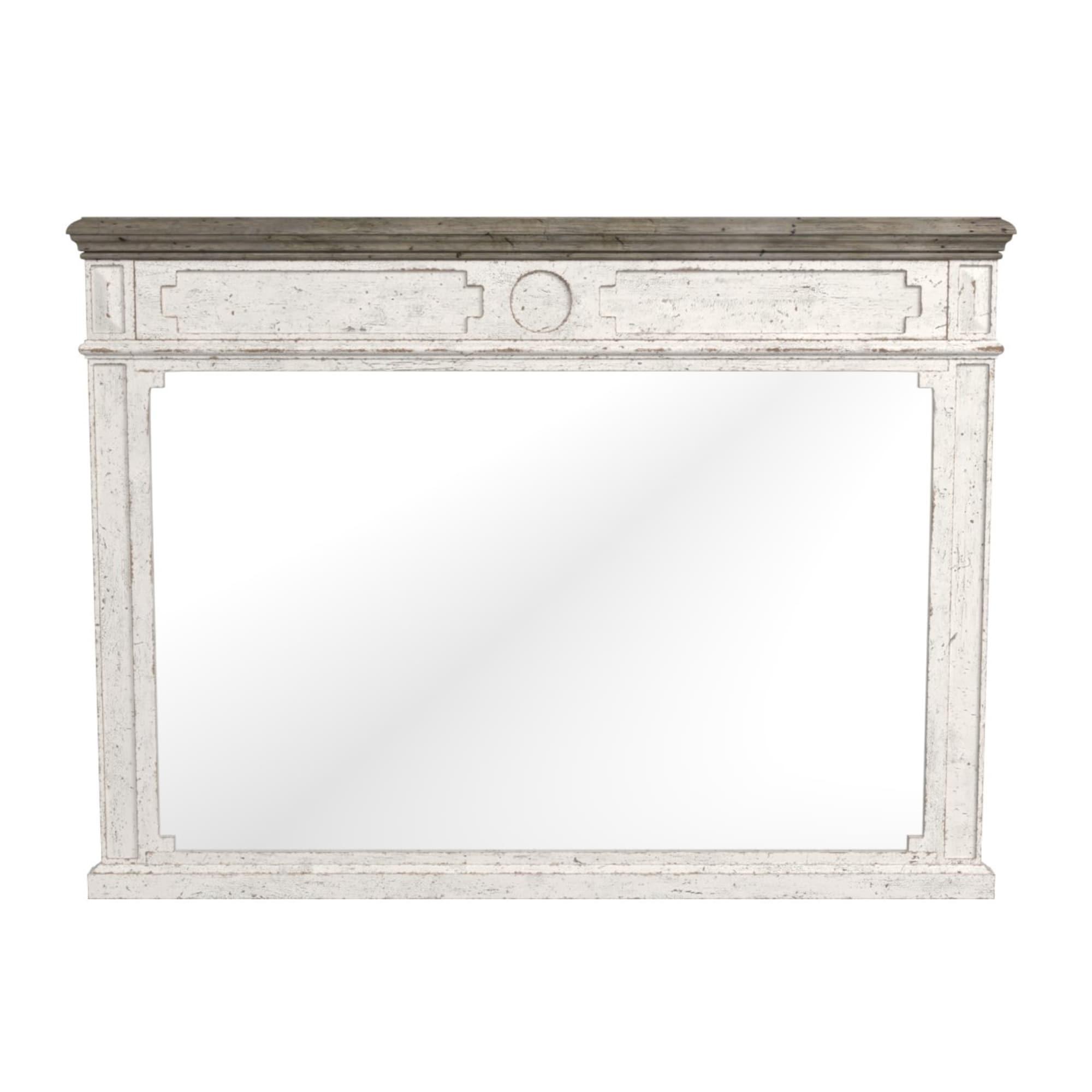 Rustic Farmhouse Two Tone Wood Mirror Verona