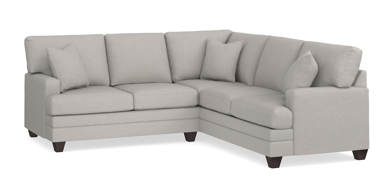 Smoke Gray L Shaped Sectional, Bassett Furniture Sectional