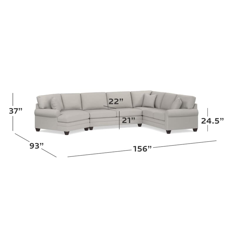 Cuddler L-Shaped Sectional