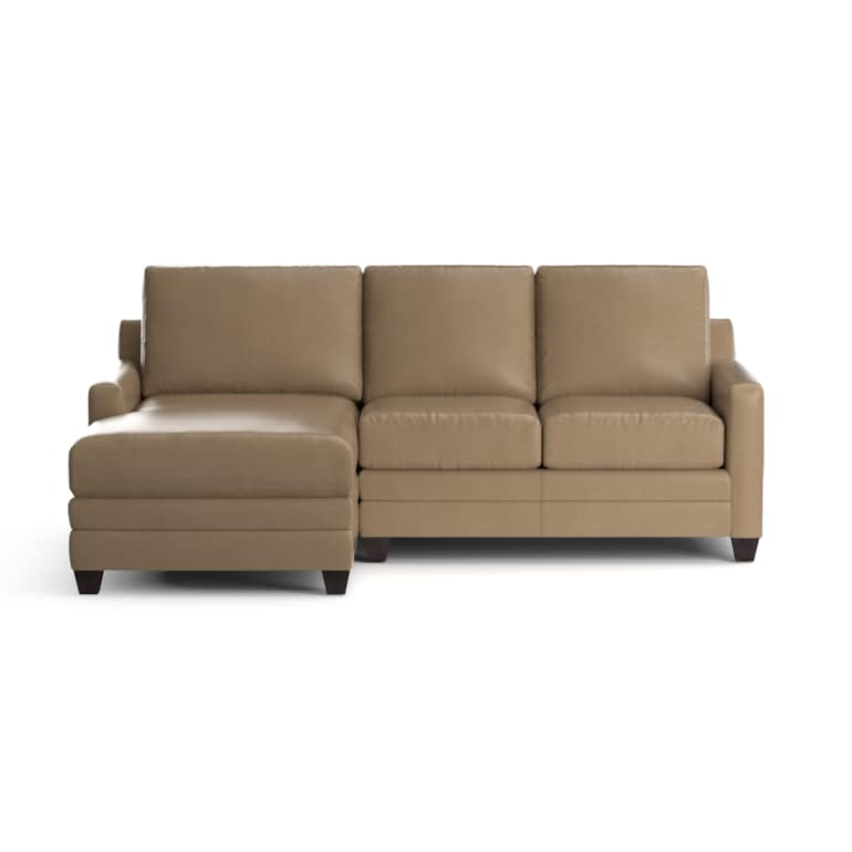 Leather Left Chaise Sectional