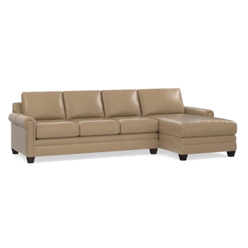 Leather Right Chaise Sectional