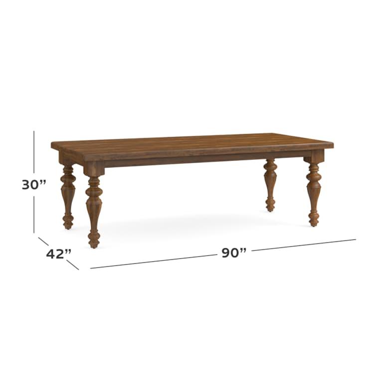 """90"""" Georgian Table"""