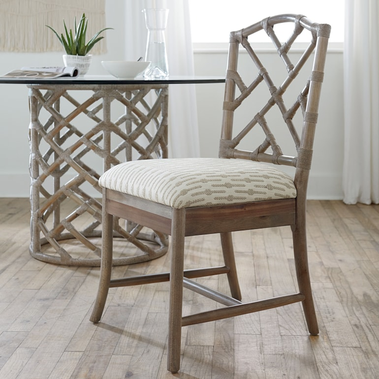 Bali Inspired Side Chair Custom Dining