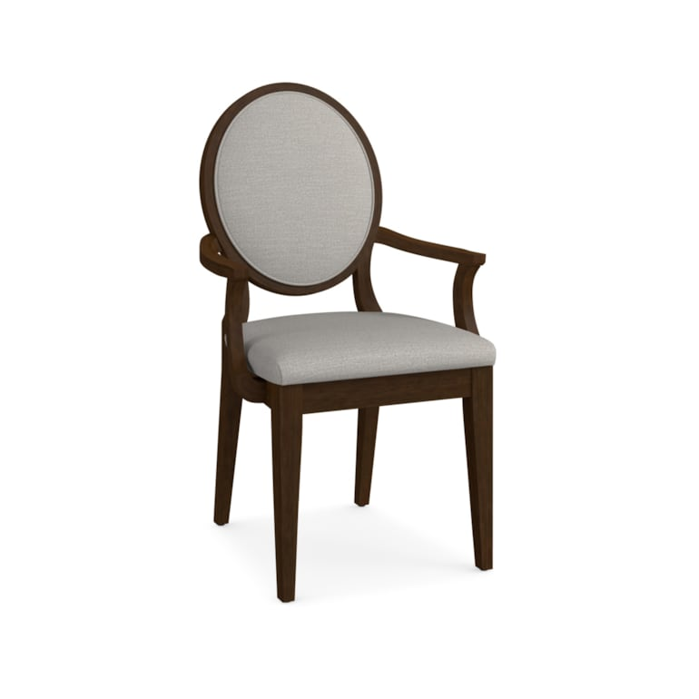 Oval X-Back Uph Arm Chair