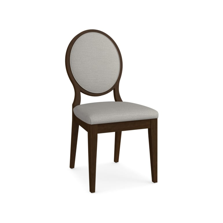 Oval X-Back Uph Side Chair