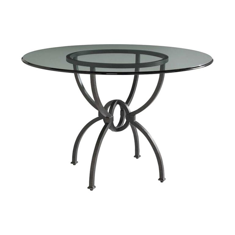 """48"""" Glass Table w/Atlas Base"""
