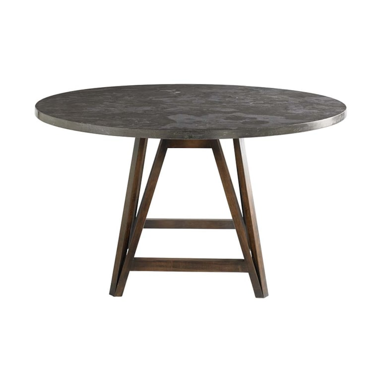 "54"" Arts & Crafts Stone Table"