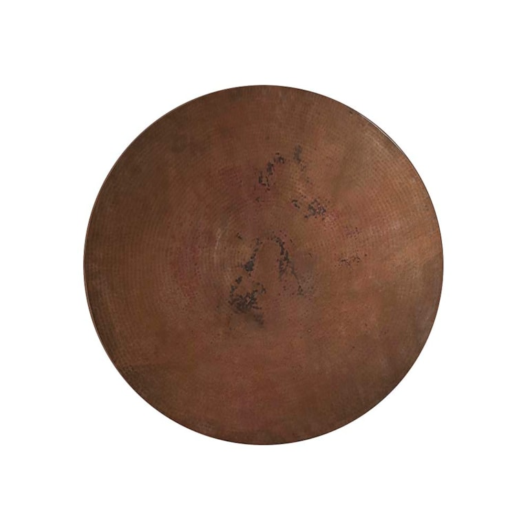 """54"""" Copper Table w/Turned Base"""