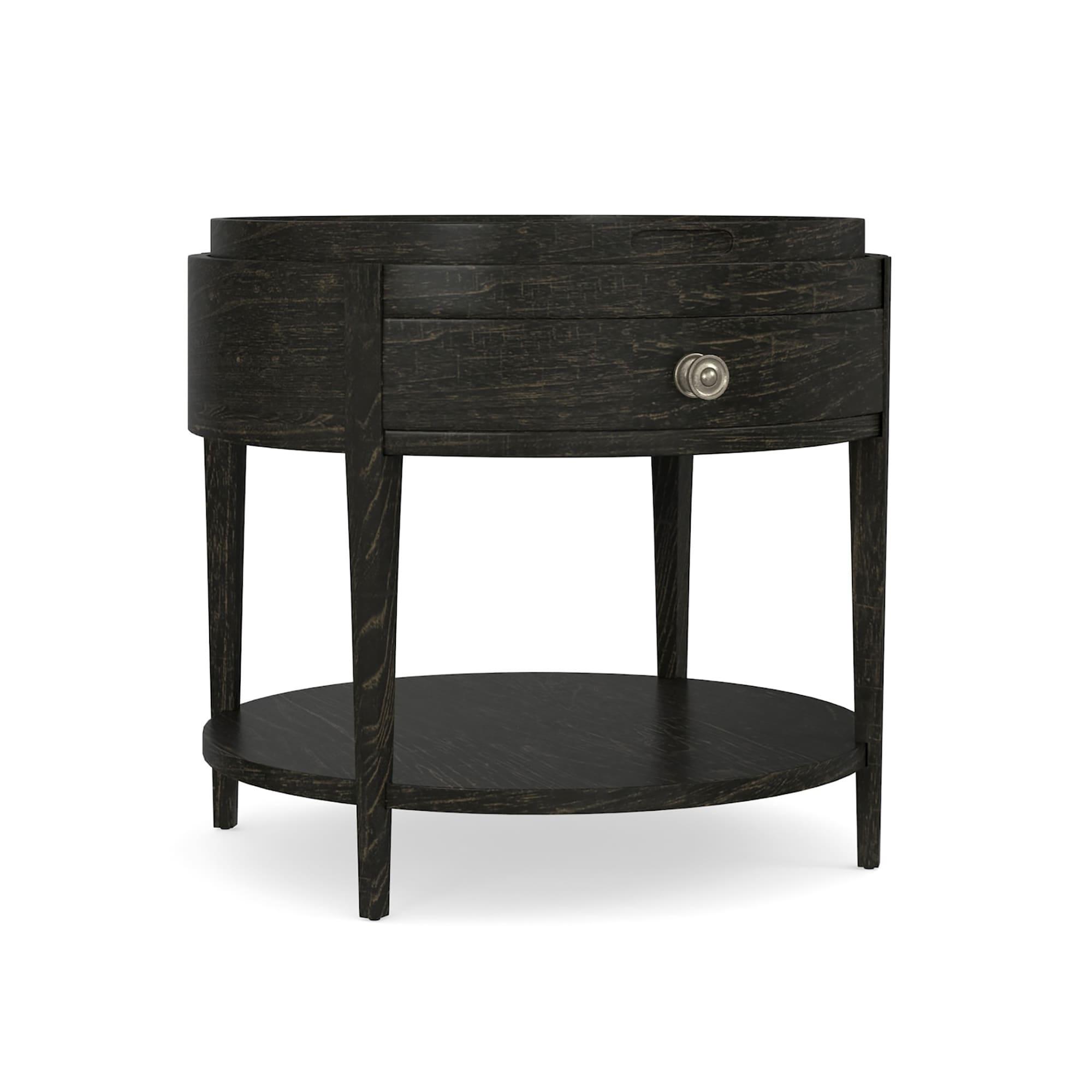 Picture of: Woodridge Round End Table Black Bassett Furniture