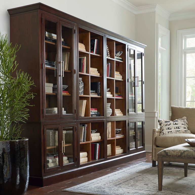 Triple Library Bookcase