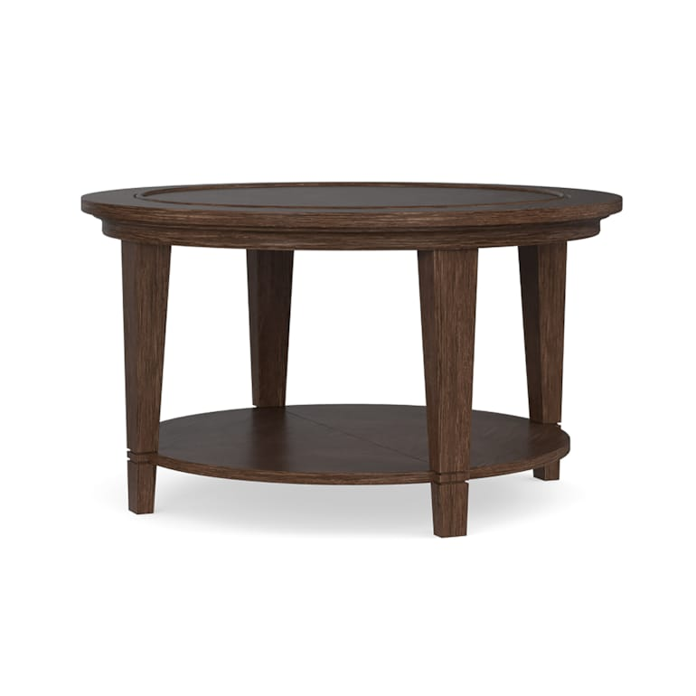 Wood Top Round Cocktail Table