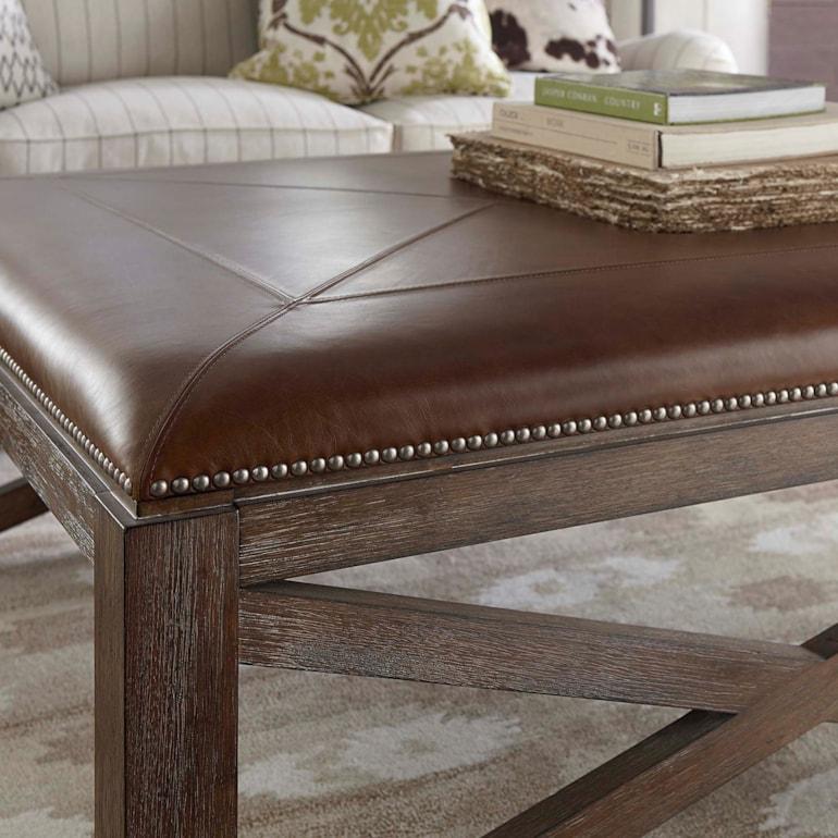 Fabulous 42 Inch Square Ottoman Cocktail Table Leather Compass Creativecarmelina Interior Chair Design Creativecarmelinacom