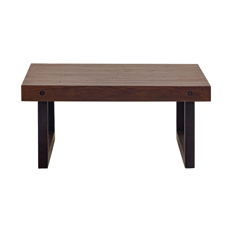Square Cocktail Table With Wood Amp Iron Henderson