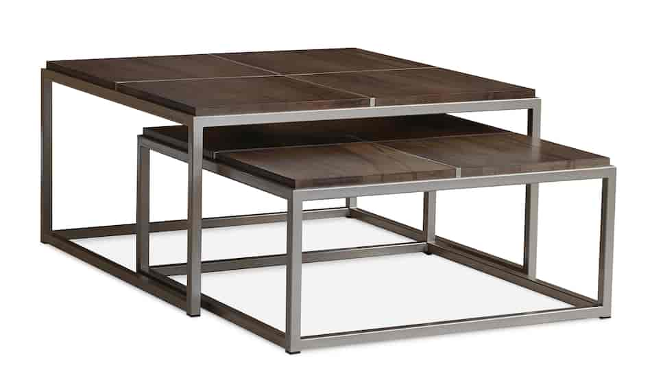 Maple Square Nesting Cocktail Tables