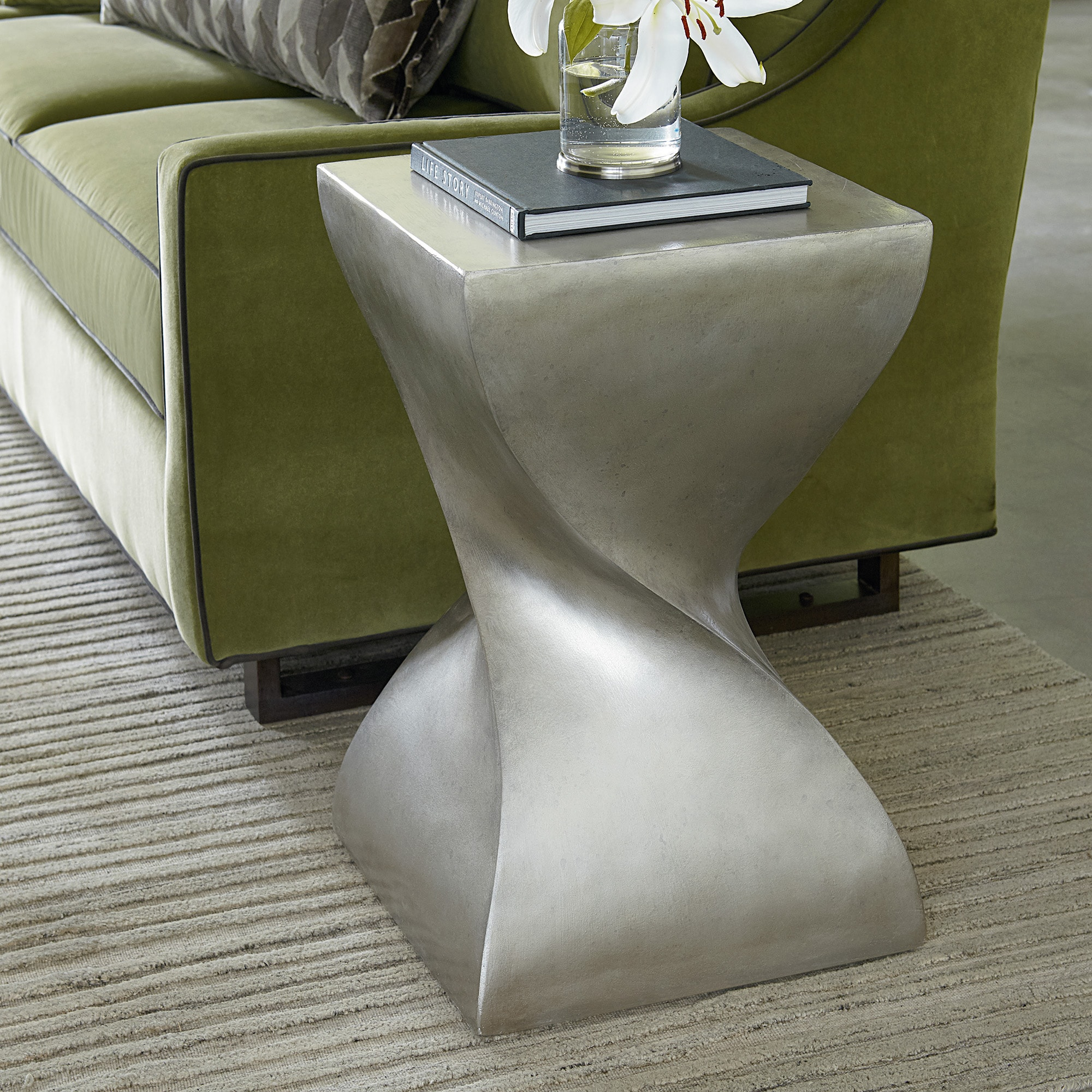 Square Twist Side Table Antiquities Collection