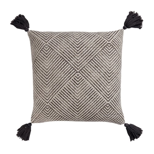 Tanner Pillow Cover Charcoal