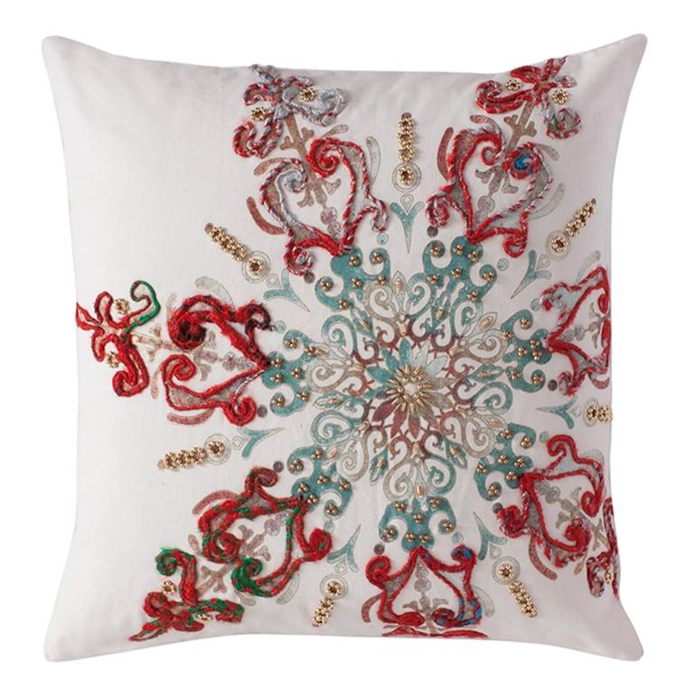 Twinkling Snowflake Pillow