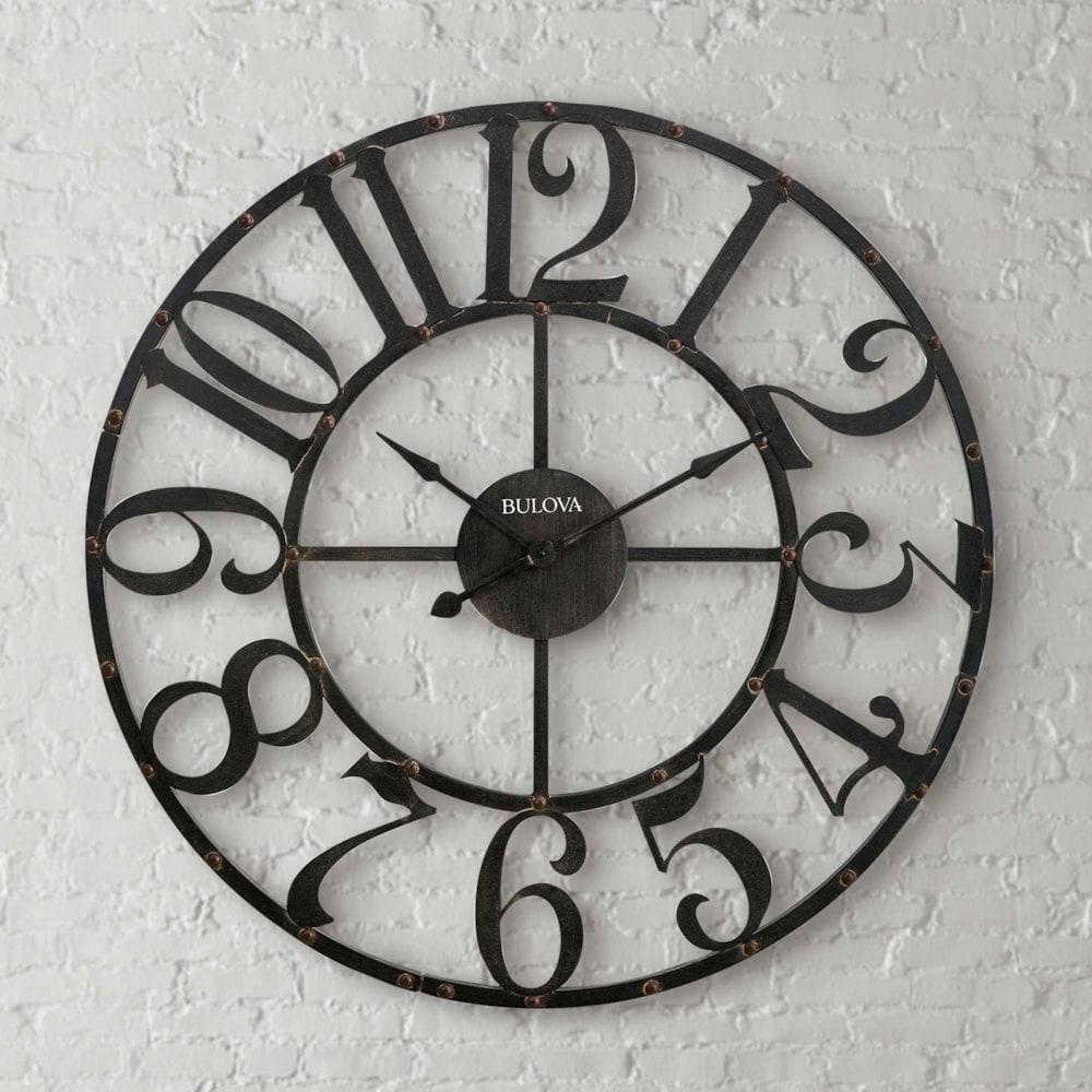 45 Inch Round Steampunk Arabic Numeral Clock