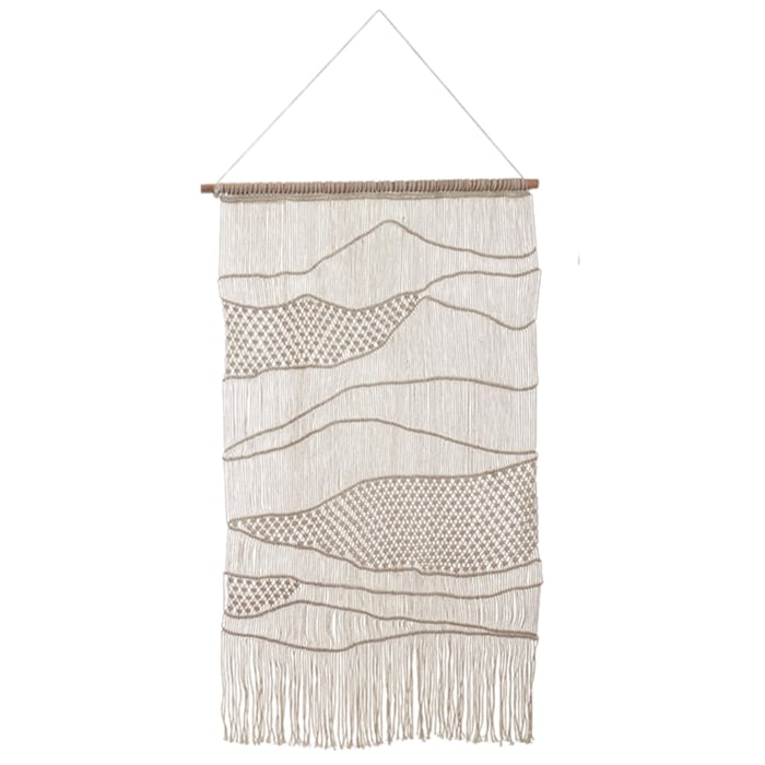 Wall Hanging-Off White Macrame