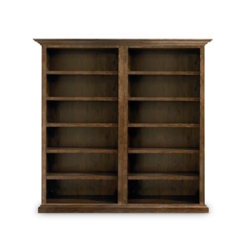 Tall Double Open Bookcase