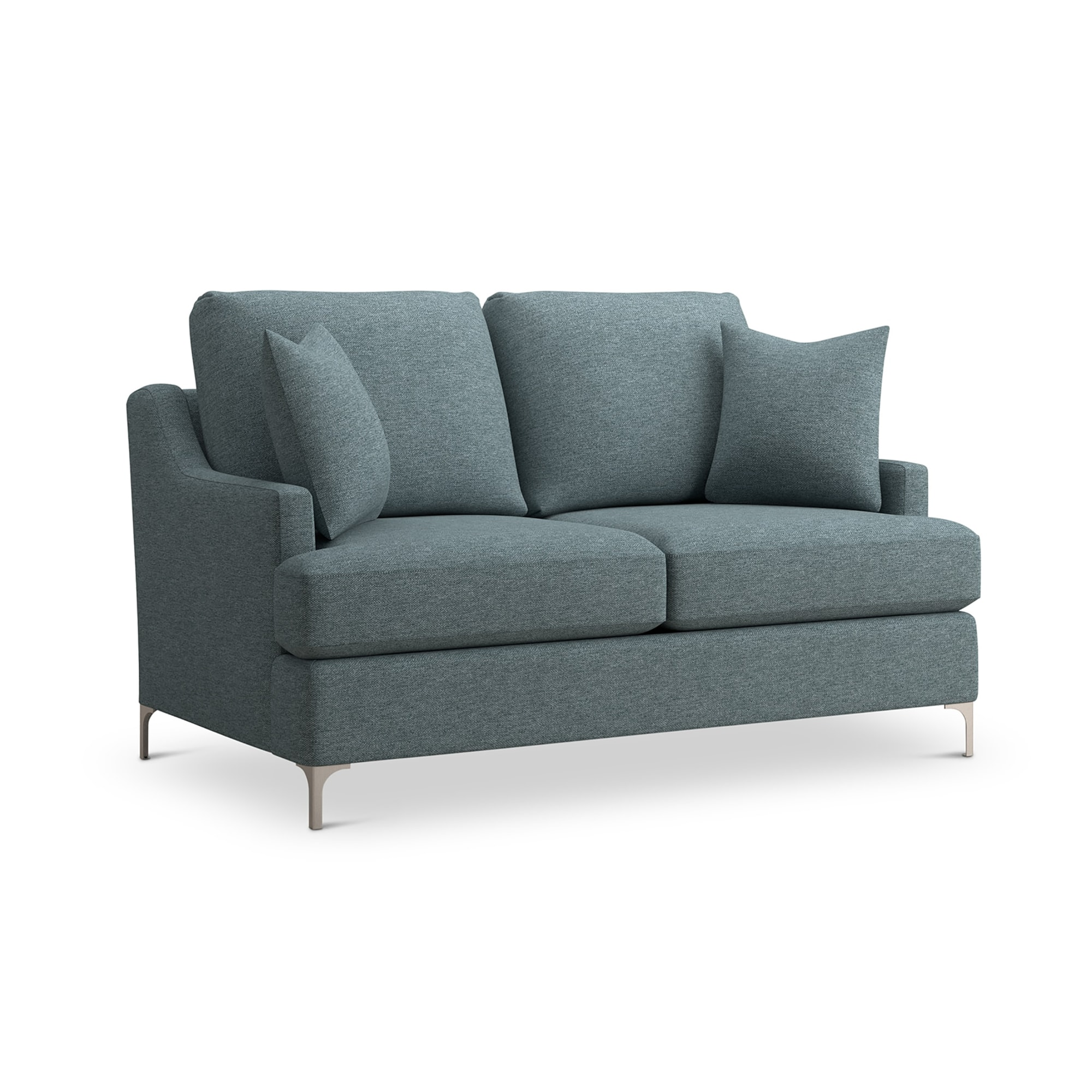 Cottage Sofa With Rustic Grey Wood Legs