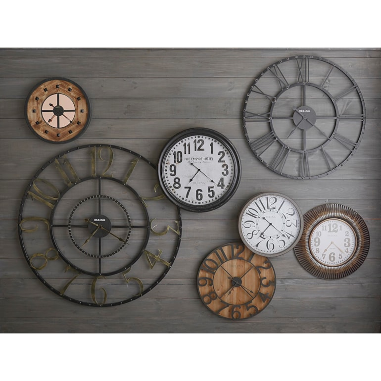 45 Inch Round Steampunk Roman Numeral Clock