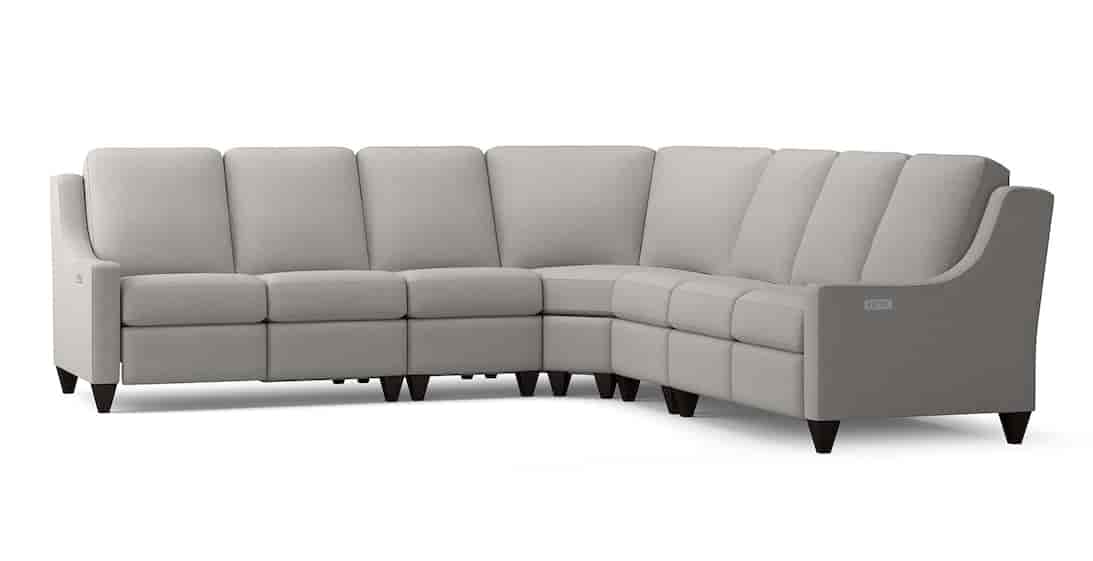Reclining Fabric L Sectional