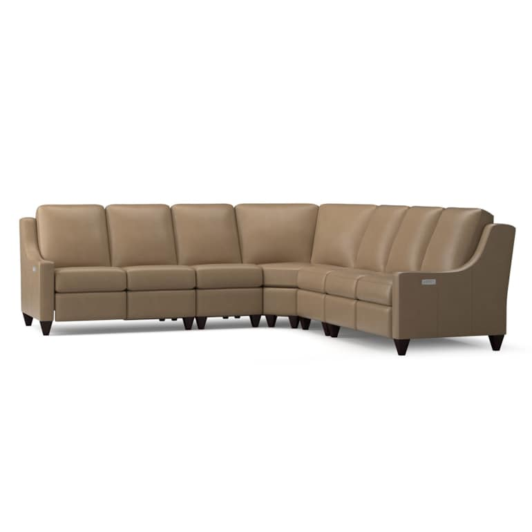 Reclining Leather L Sectional