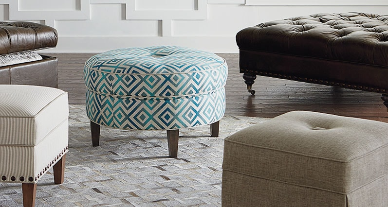 Hgtv custom ottomans benches home furnishings - Bedroom furniture made in north carolina ...