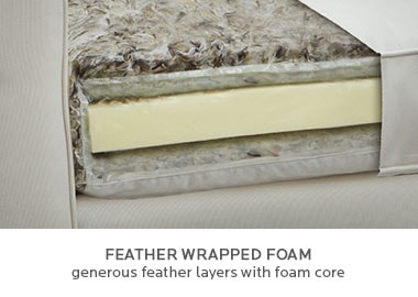 Feather Wrapped Foam